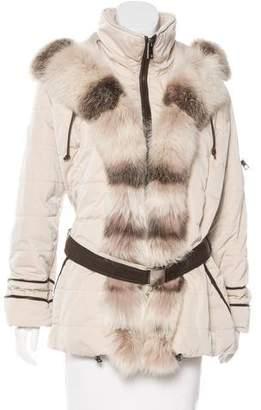 Gorski Apres Ski Fur-Trimmed Puffer Coat