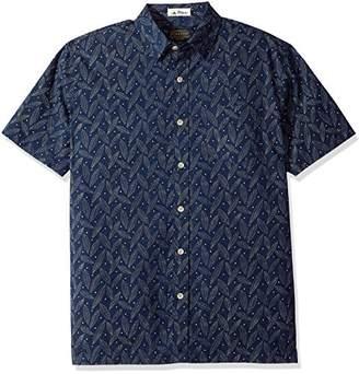 Pendleton Men's Short Sleeve Button Front Surf Print Shirt