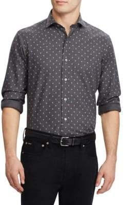 Ralph Lauren Herringbone Casual Button-Down Shirt