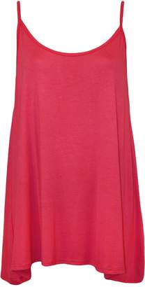 Roland Mouret Fashions Womens Ladies Plain Plus Size Sleeveless Swing Vest Strap Cami Camisole Tank Top