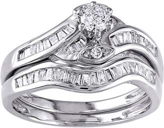 Affinity Diamond Jewelry Round & Tapered Diamond Ring Set, 14K, 1/2 cttw, by Affinity