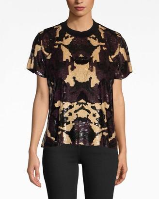 Nicole Miller Camouflage Sequin T-shirt