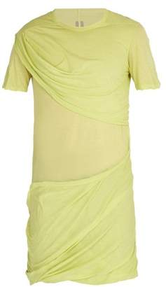 Rick Owens Draped Cotton T Shirt - Mens - Yellow