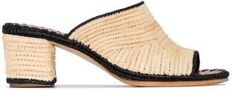 Carrie Forbes Rama raffia mule sandals