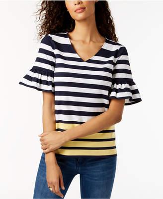 Charter Club Ruffled-Sleeve Top, Created for Macy's