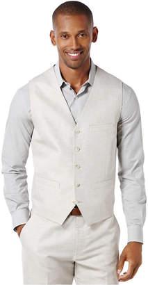 Perry Ellis Men's Big and Tall Linen Blend Vest $89.50 thestylecure.com