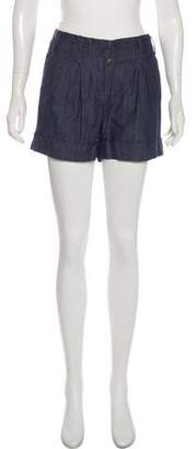 Tory Burch Mid-Rise Denim Shorts