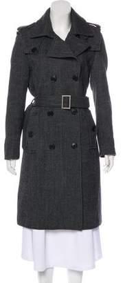 By Malene Birger Herringbone Double-Breasted Coat