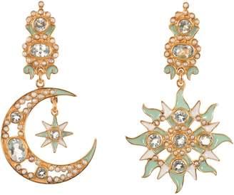Papi Percossi Sun & Moon Mint Stone Drop Earrings