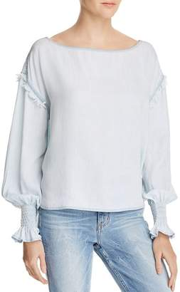DL1961 York St Chambray Boatneck Top