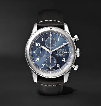 Breitling Navitimer 8 Automatic Chronograph 43mm Steel and Leather Watch