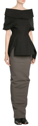 Rick Owens Draped Maxi Skirt with Cotton $499 thestylecure.com