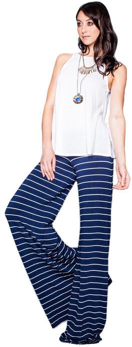 Saint Grace - Moby Stripe Carol Pant In Liberty White