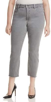 NYDJ Plus Sheri Slim Frayed Ankle Jeans in Mineral