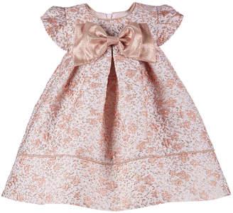 Bonnie Baby Baby Girls Metallic Floral Brocade Dress