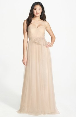 Women's Jenny Yoo 'Annabelle' Convertible Tulle Column Dress $155.98 thestylecure.com