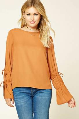 Forever 21 Contemporary Bell-Sleeve Top