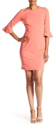 Donna Morgan Crepe Bell Sleeve Dress