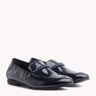 a9c9697b4b5f3b Tommy Hilfiger Chain Detail Patent Leather Loafers