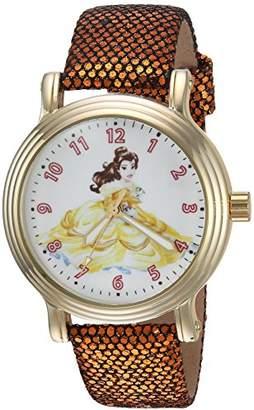 Disney Women's 'Princess Belle' Quartz Metal Casual Watch