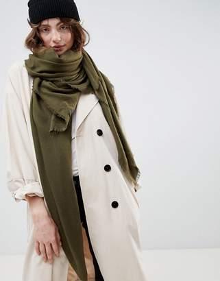 Asos DESIGN super soft square lightweight viscose scarf