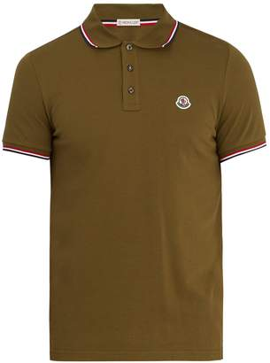 Moncler Maglia logo-appliqué cotton-piqué polo shirt