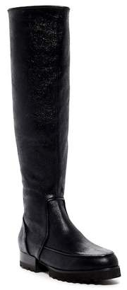 Donald J Pliner Eva Leather Lug High Boot