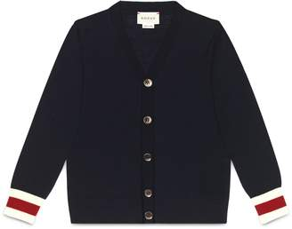 Children's merino cardigan with Web $275 thestylecure.com