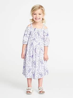 Old Navy Floral Off-the-Shoulder Maxi for Toddler Girls
