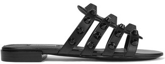 Balenciaga - Giant Studded Leather Sandals - Black $635 thestylecure.com