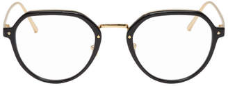 Linda Farrow Luxe Gold and Black 717 C6 Glasses
