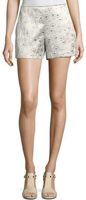 Trina Turk Metallic Daisy Jacquard Shorts