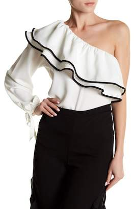 Do & Be Do + Be Tiered Ruffle One Shoulder Blouse