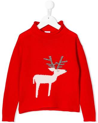 Il Gufo deer knitted sweater