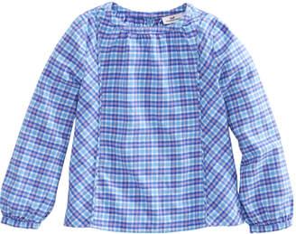 Vineyard Vines Girls Morgan Way Plaid Flannel Top