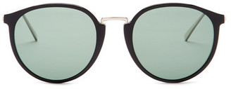 Ermenegildo Zegna Men's Acetate Round Sunglasses $440 thestylecure.com