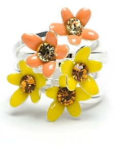 Eric Et Lydie Flower Stacking Rings