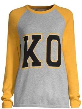 Michael Kors Collection Kors Cashmere Varsity Pullover