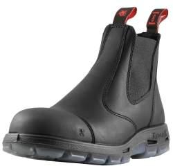"""Redback Boots EASY ESCAPE 6"""" SLIP-ON STEEL TOE SCUFF CAP 7.5"""