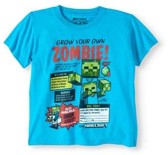 Minecraft Boys' Short Sleeve Zombie Graphic T-Shirt
