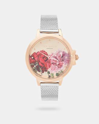 Ted Baker PRAZIA Printed mesh strap watch