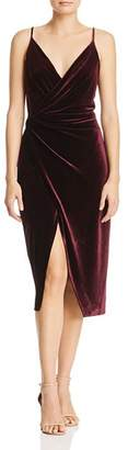 Betsey Johnson Velvet Faux-Wrap Dress