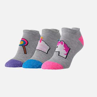 Sof Sole Women's Finish Line Emoji Performance Tab No-Show Socks - 3-Pack
