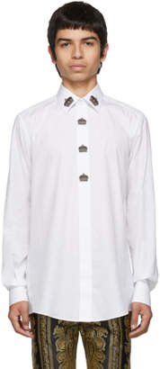 Dolce & Gabbana White Crown Shirt