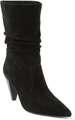 Kensie Pull-On Suede Slouch Boots - Kenley