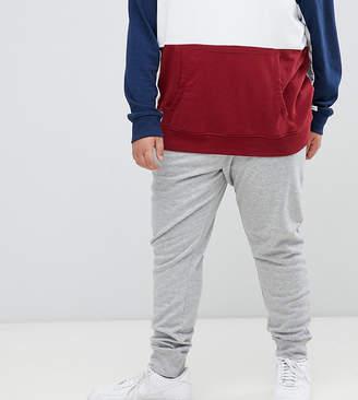 New Look Plus sweatpants in gray