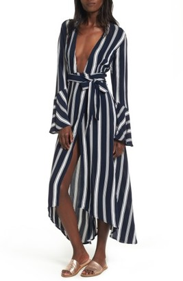 Women's Faithfull The Brand Carioca Wrap Maxi Dress $169 thestylecure.com
