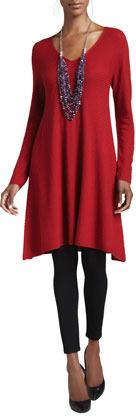Eileen Fisher Mix-Textured Long Tunic/Dress