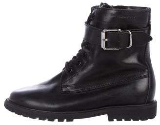 Burberry Boys' Leather Combat Boots