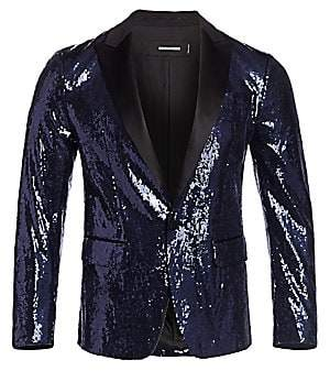 DSQUARED2 Men's Sequin One-Button Peak Jacket